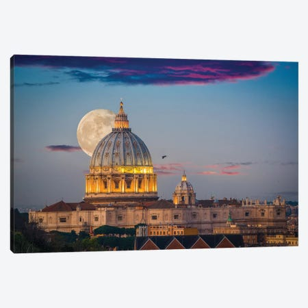 Sunset Over Eternity Canvas Print #MAO62} by Marco Carmassi Canvas Wall Art