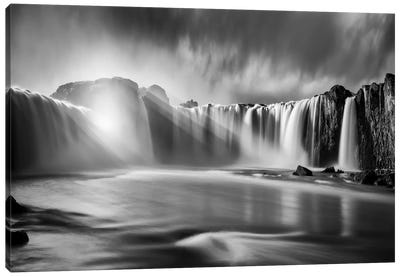 Godafoss Rays Canvas Art Print