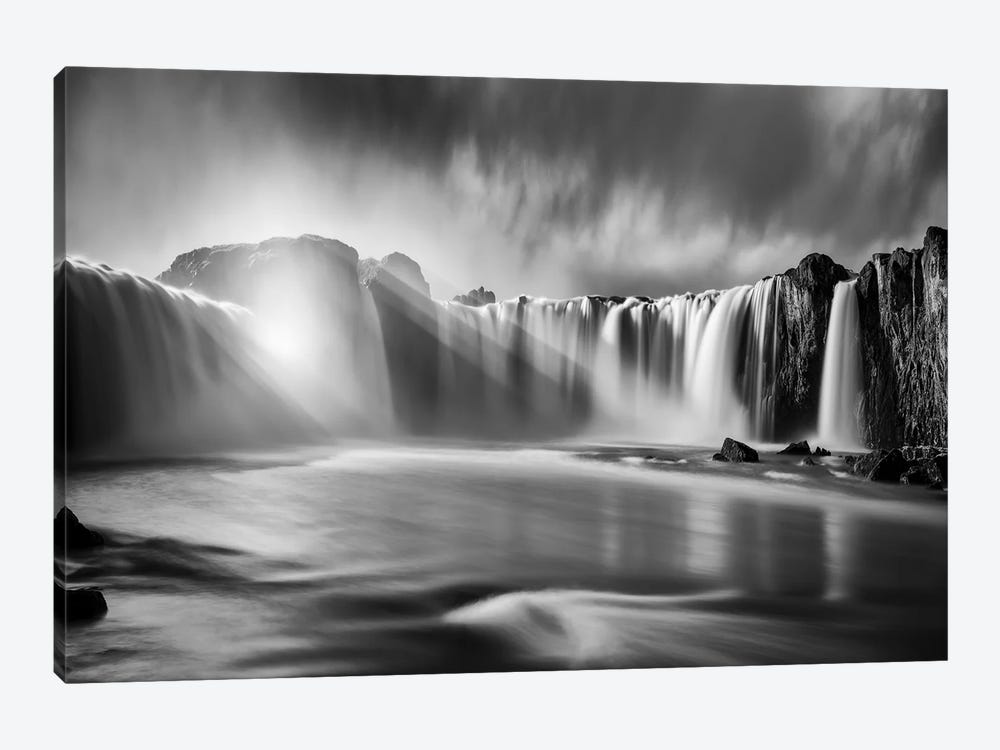 Godafoss Rays by Marco Carmassi 1-piece Canvas Artwork