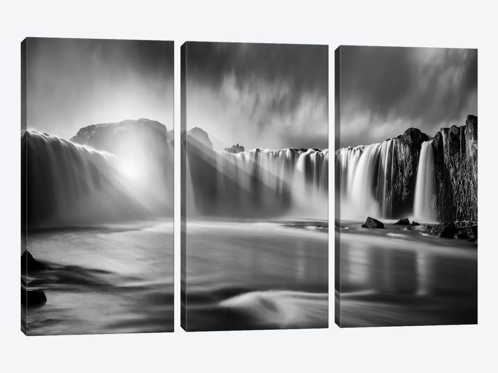 Godafoss Rays by Marco Carmassi 3-piece Canvas Art