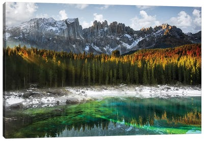 Carezza Lake Canvas Art Print