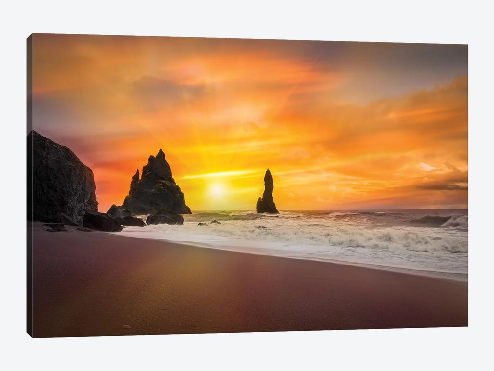 The Golden Sunlight 1-piece Canvas Art