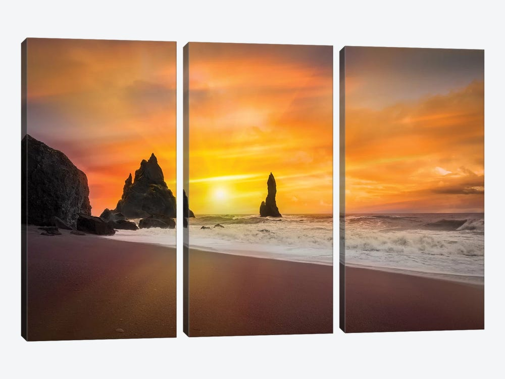 The Golden Sunlight by Marco Carmassi 3-piece Canvas Artwork