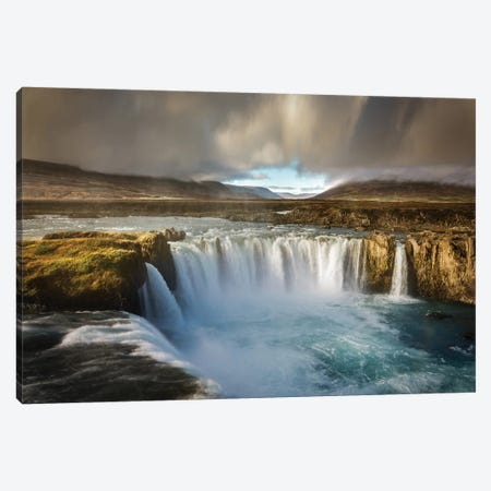 Godafoss Canvas Print #MAO76} by Marco Carmassi Canvas Wall Art