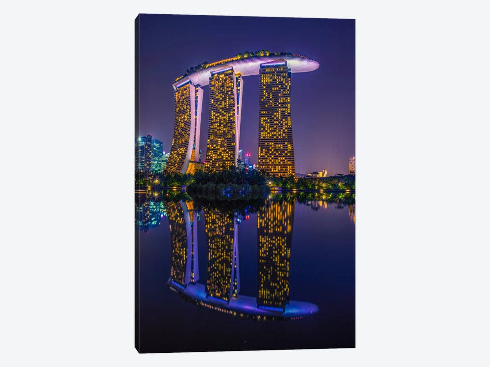 Marina Bay Sands by Marco Carmassi 1-piece Canvas Art Print