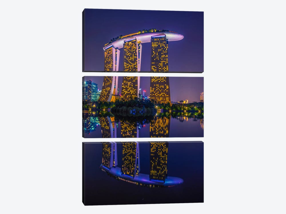 Marina Bay Sands by Marco Carmassi 3-piece Canvas Art Print