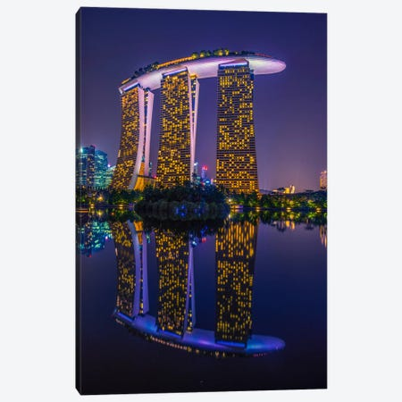 Marina Bay Sands Canvas Print #MAO7} by Marco Carmassi Art Print