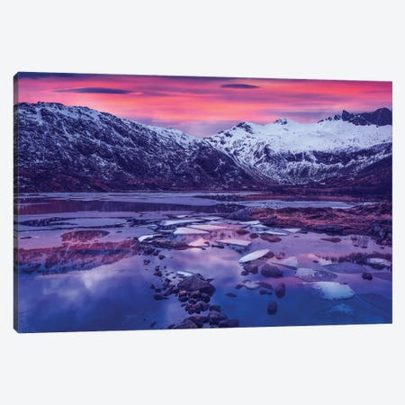 Lofoten Blue Sunset Canvas Print #MAO81} by Marco Carmassi Canvas Wall Art