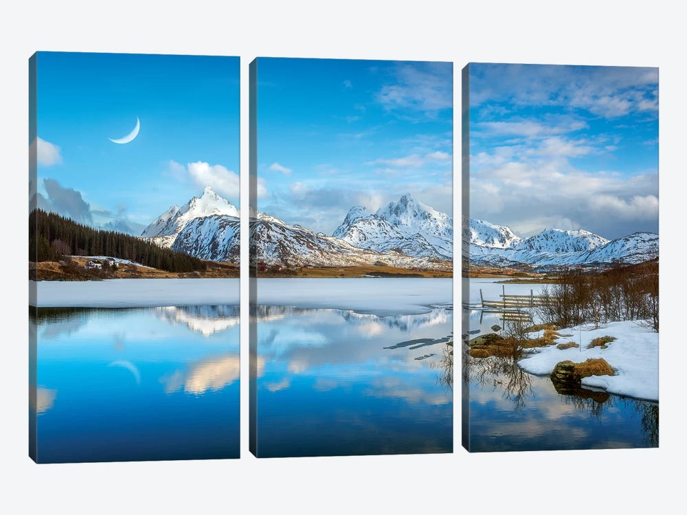 Quiet Afternoon by Marco Carmassi 3-piece Canvas Print