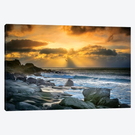 Lofoten Beach And Stones Canvas Print #MAO85} by Marco Carmassi Canvas Art Print