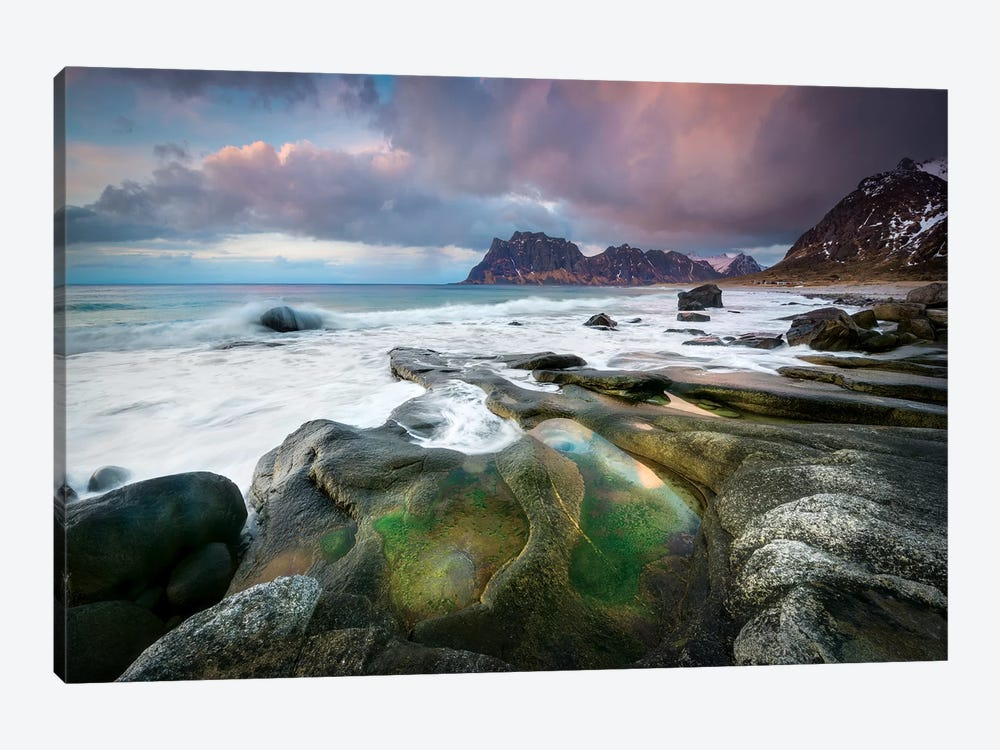 Uttakleiv Beach by Marco Carmassi 1-piece Art Print