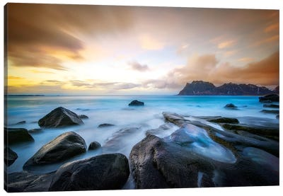 Uttakleiv Beach Before Sunset Canvas Art Print
