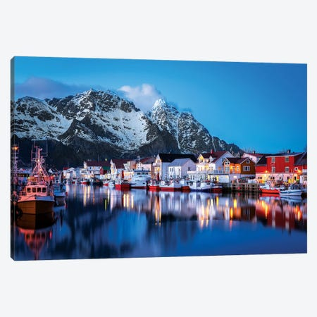 Henningsvær The Venice Of The Lofoten Canvas Print #MAO89} by Marco Carmassi Canvas Wall Art