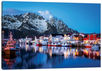 Henningsvær The Venice Of The Lofoten Canvas Art Print