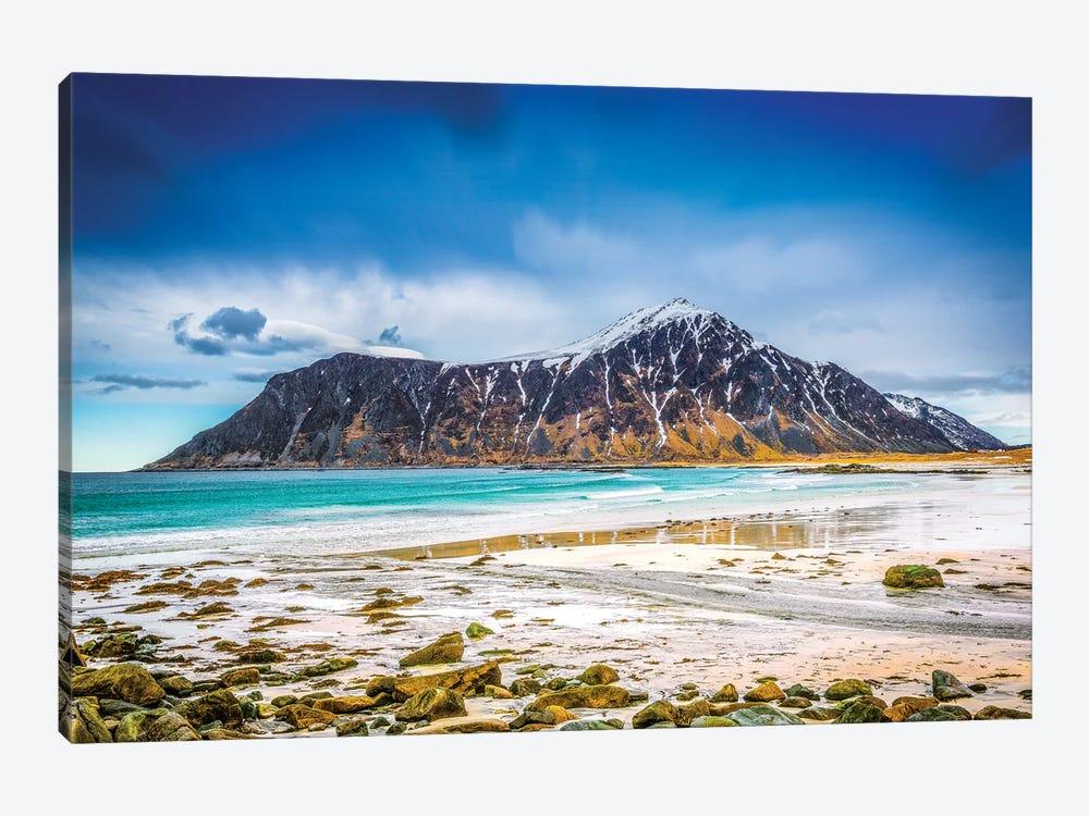 Flakstad Beach Lofoten by Marco Carmassi 1-piece Canvas Artwork