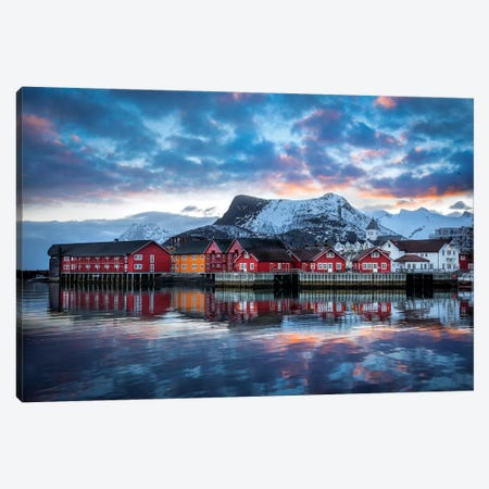 Svolvær The Heart Of Lofoten Canvas Print #MAO91} by Marco Carmassi Canvas Art Print