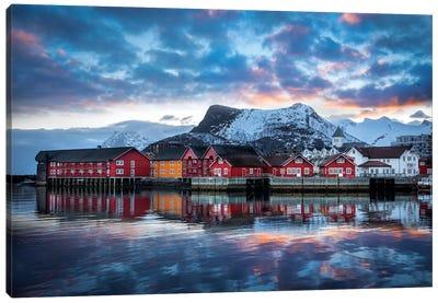 Svolvær The Heart Of Lofoten Canvas Art Print