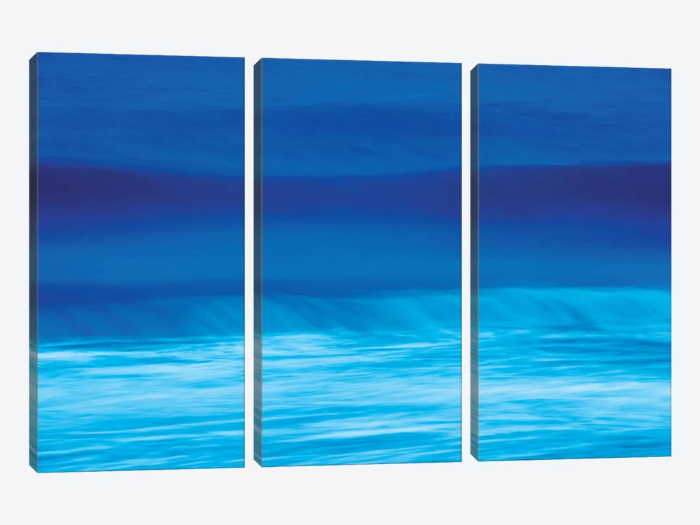 Blue Waves by Marco Carmassi 3-piece Canvas Art Print