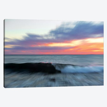 Moving Wave Canvas Print #MAO98} by Marco Carmassi Canvas Art Print
