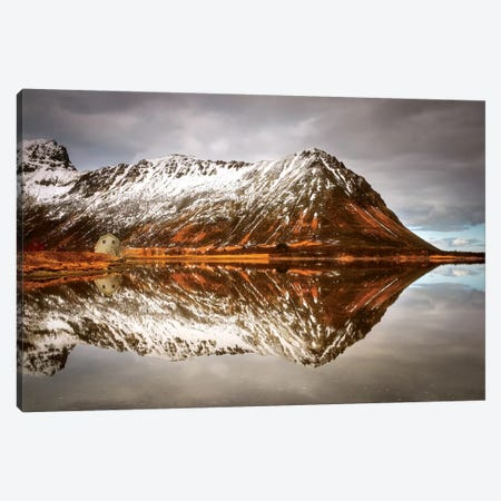 Mountain Reflected Canvas Print #MAO99} by Marco Carmassi Art Print