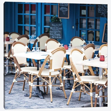 Blue Cafe Canvas Print #MAP1} by Melanie Alexandra Price Canvas Artwork