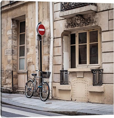 Parked At Ile Saint-Louis Canvas Art Print