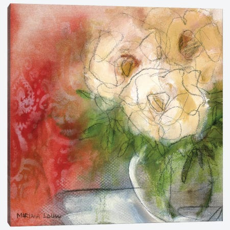Bouquet I Canvas Print #MAR1} by Marina Louw Canvas Wall Art