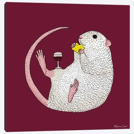 Nibbles Canvas Print #MAS100} by Martina Scott Art Print