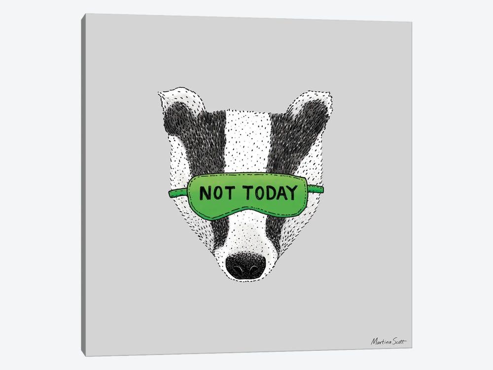 Not Today Badger by Martina Scott 1-piece Canvas Artwork