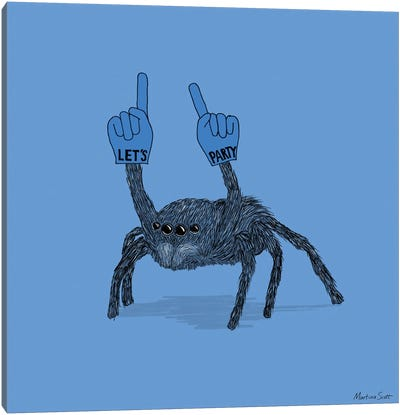Party Spider Canvas Art Print