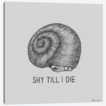 Shy Snail Canvas Print #MAS106} by Martina Scott Canvas Wall Art