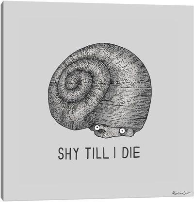 Shy Snail Canvas Art Print