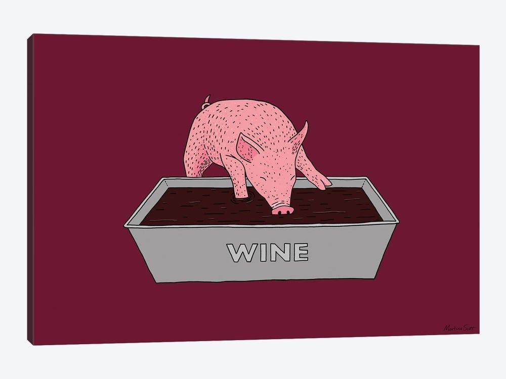 Wine Pig by Martina Scott 1-piece Art Print
