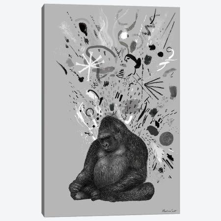 Moody Gorilla Canvas Print #MAS116} by Martina Scott Canvas Print