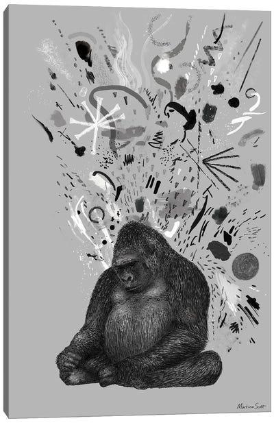 Moody Gorilla Canvas Art Print