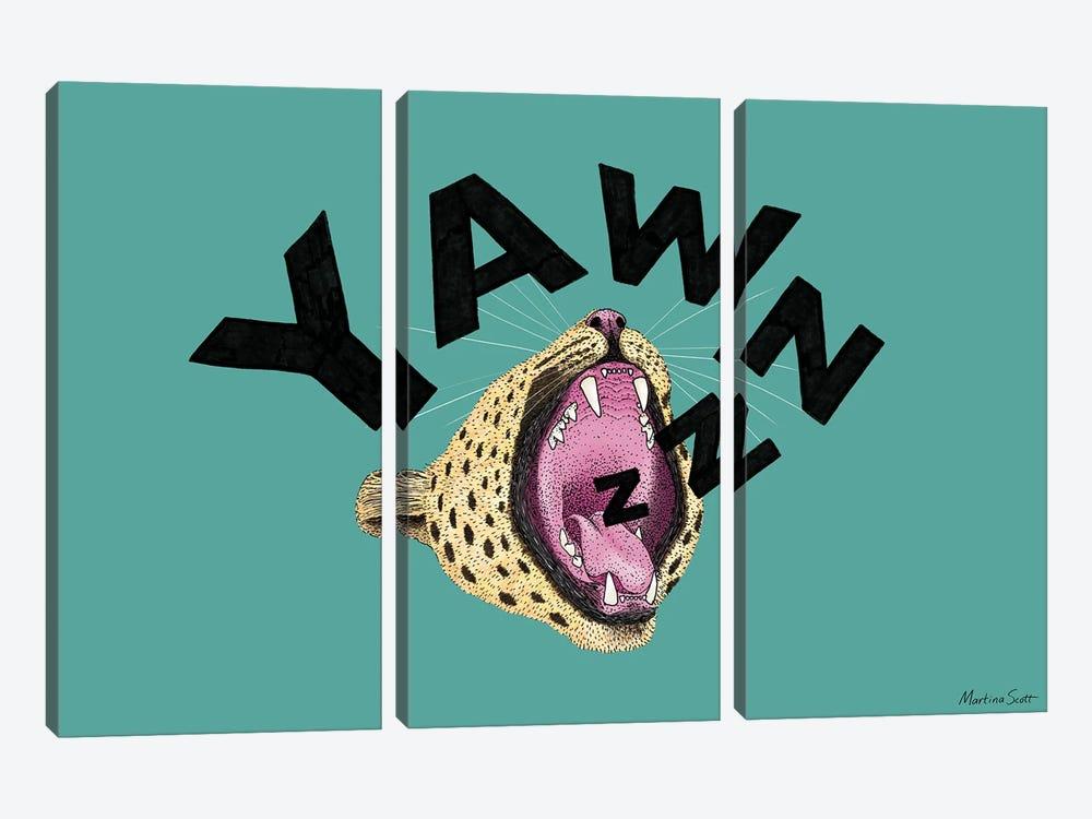 Yawnzzz by Martina Scott 3-piece Art Print