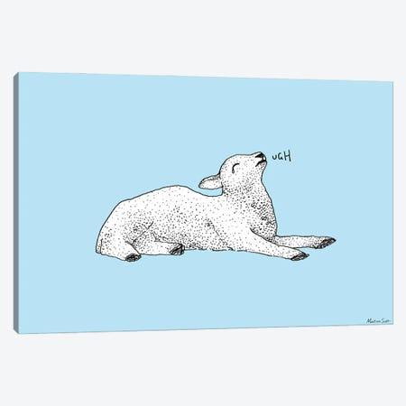 Exasperated Lamb Canvas Print #MAS16} by Martina Scott Canvas Art