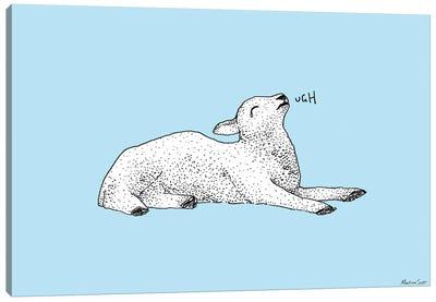 Exasperated Lamb Canvas Art Print