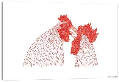 Gay Cockerels Canvas Art Print
