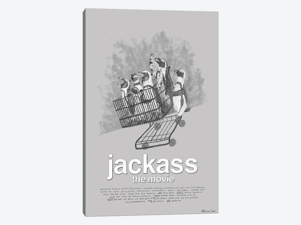Jackass The Movie by Martina Scott 1-piece Canvas Wall Art