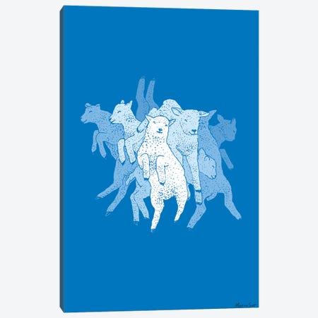 Leaping Lambs Canvas Print #MAS29} by Martina Scott Canvas Wall Art