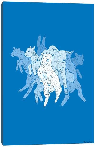 Leaping Lambs Canvas Art Print