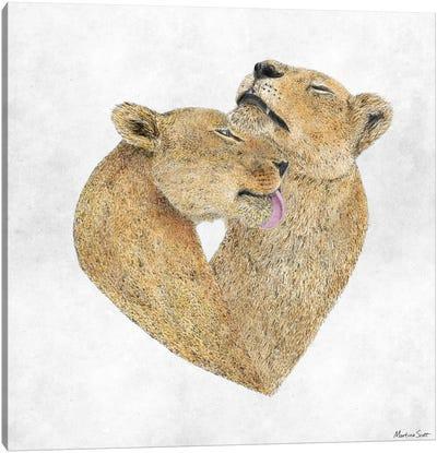 Lioness Lovers Canvas Art Print