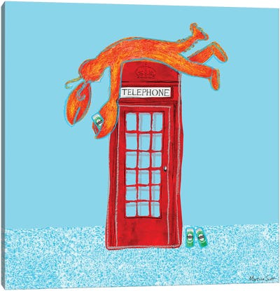 Lobster Telephone II Canvas Art Print