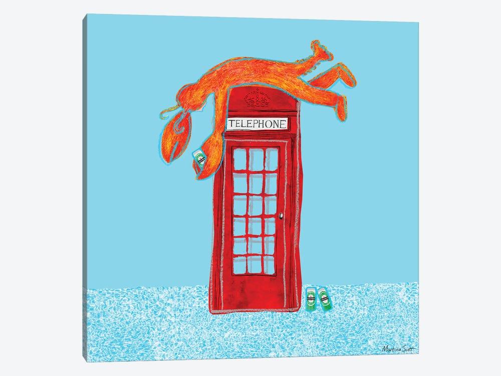 Lobster Telephone II by Martina Scott 1-piece Canvas Wall Art
