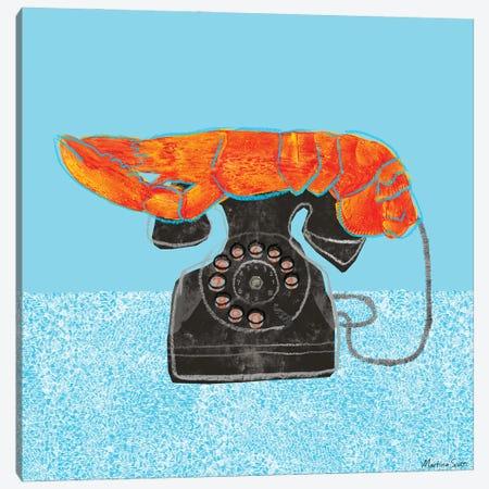 Lobster Telephone Canvas Print #MAS32} by Martina Scott Canvas Print