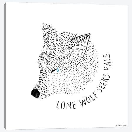 Lone Wolf Seeks Pals Canvas Print #MAS33} by Martina Scott Canvas Print