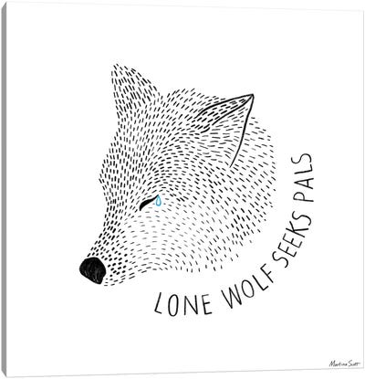 Lone Wolf Seeks Pals Canvas Art Print