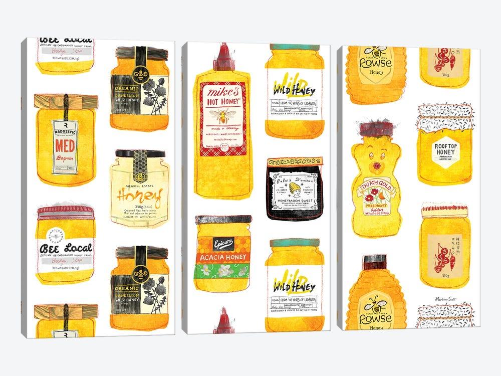 All The Honeys by Martina Scott 3-piece Canvas Print