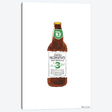 Northern Irish Craft Beer - Mcgrath's Irish White Ale Canvas Print #MAS41} by Martina Scott Canvas Art